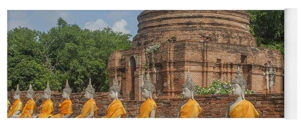 Wat Phra Chao Phya-thai Buddha Images And Ruined Chedi Dtha005 Yoga Mat