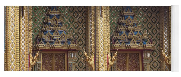 Wat Thung Setthi Ubosot Window Dthb1550 Yoga Mat