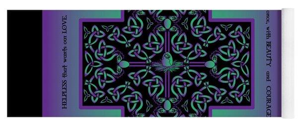 Water Dragon Celtic Cross Yoga Mat