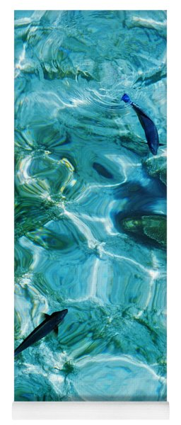 Water Meditation II. Five Elements. Healing With Feng Shui And Color Therapy In Interior Design Yoga Mat