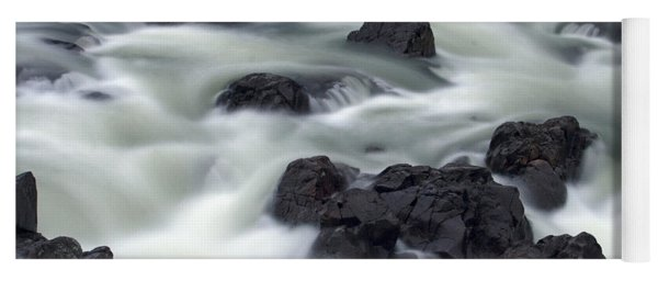 Water Over Rocks Yoga Mat