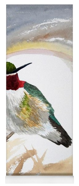 Yoga Mat featuring the painting Watercolor - Broad-tailed Hummingbird by Cascade Colors