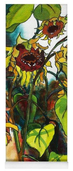Sunflowers On The Rise Yoga Mat