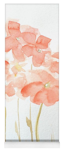 Watercolor Flower Field Yoga Mat