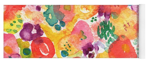 Watercolor Garden Yoga Mat