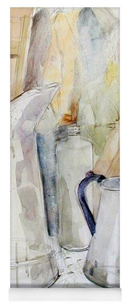 Watercolor Still Life Of White Cans Yoga Mat