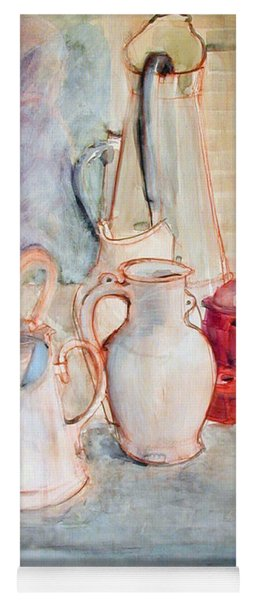 Watercolor Still Life With Red Can Yoga Mat
