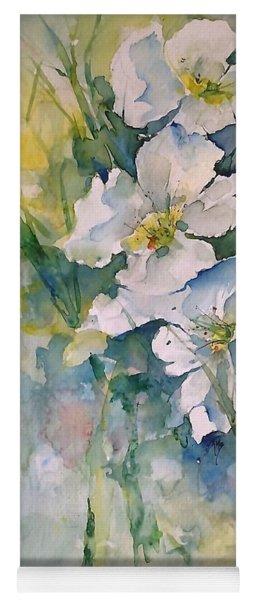 Watercolor Wild Flowers Yoga Mat