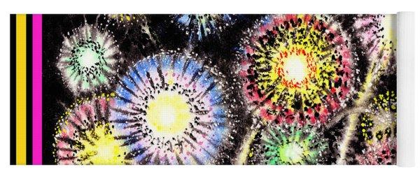Watercolorful Fireworks Yoga Mat