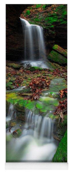 Frankfort Mineral Springs Waterfall  Yoga Mat