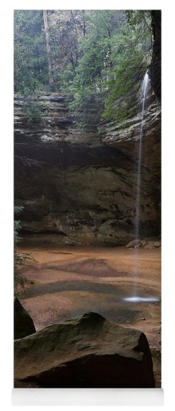 Waterfall At Ash Cave Yoga Mat