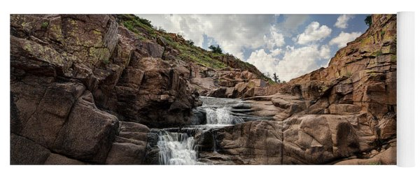 Waterfall At Forty Foot Hole In The Wichita Mountains Yoga Mat