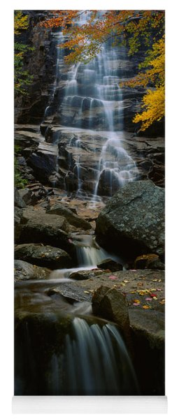 Waterfall In A Forest, Arethusa Falls Yoga Mat