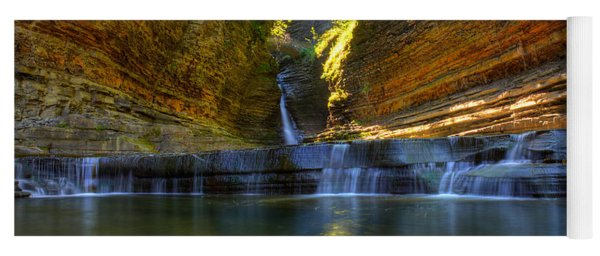 Waterfalls At Watkins Glen State Park Yoga Mat