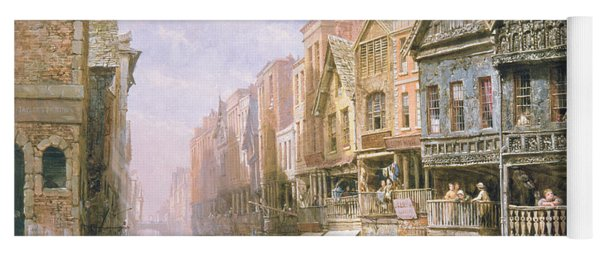 Watergate Street Looking Towards Eastgate Chester Yoga Mat