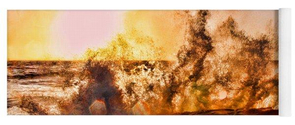 Wave Crasher La Jolla By Diana Sainz Yoga Mat