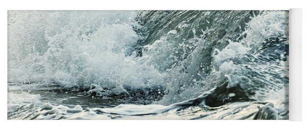 Waves In Stormy Ocean Yoga Mat