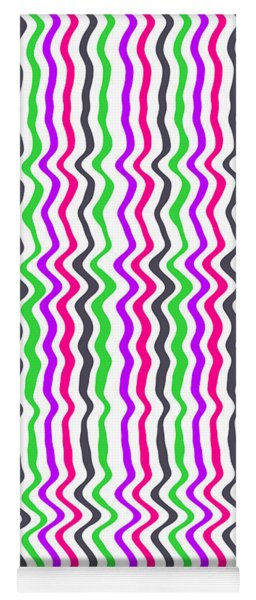 Wavy Stripe Yoga Mat