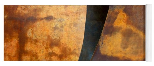 Weathered Bronze Abstract Yoga Mat