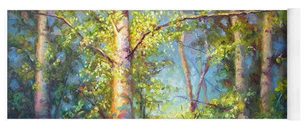 Welcome Home - Birch And Aspen Trees Yoga Mat