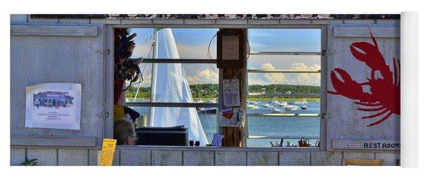 Wellfleet Harbor Thru The Window Yoga Mat