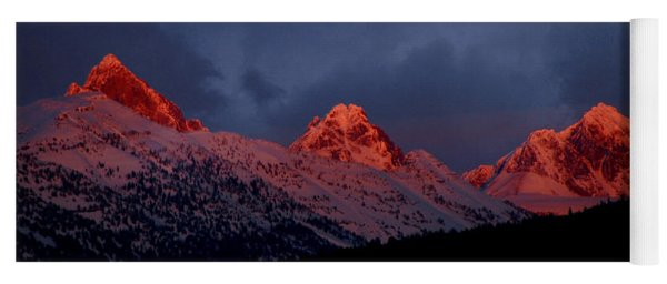 West Side Teton Sunset Yoga Mat