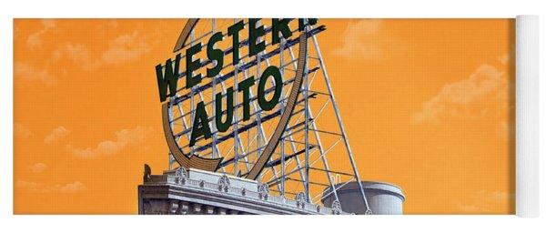 Western Auto Sign Artistic Sky Yoga Mat