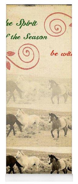Western Themed Christmas Card Wyoming Spirit Yoga Mat