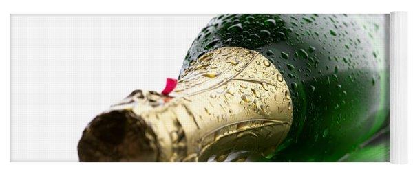 Wet Champagne Bottle Yoga Mat