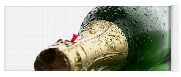 Wet Champagne Bottle Yoga Mat