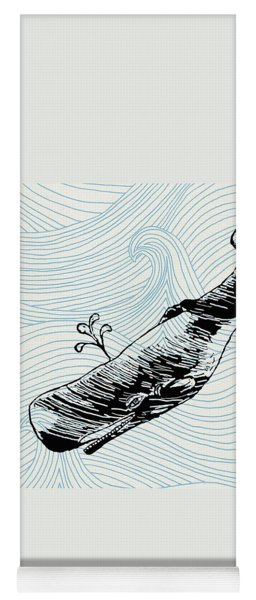 Whale On Wave Paper Yoga Mat