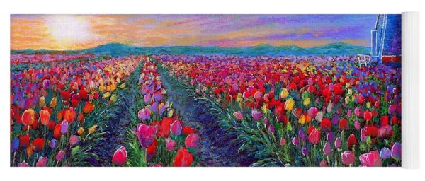 Tulip Fields, What Dreams May Come Yoga Mat