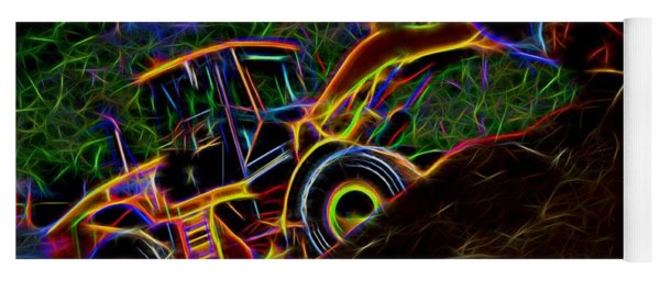 Wheel Loader Moving Dirt - Neon Yoga Mat