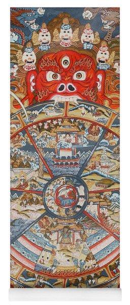 Wheel Of Life Or Wheel Of Samsara Yoga Mat