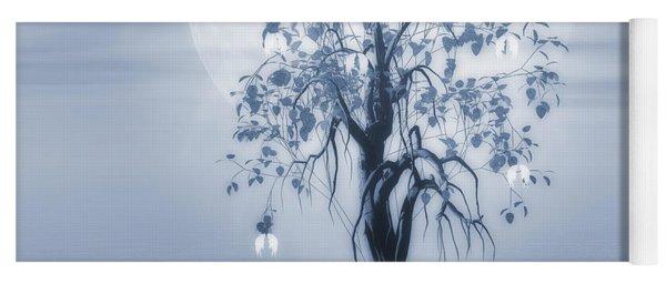 Where Angels Bloom Cyanotype Yoga Mat
