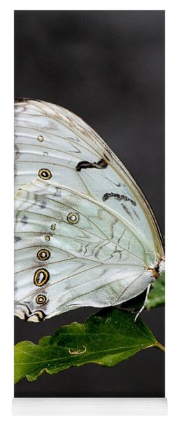 White Butterfly Yoga Mat
