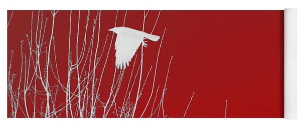 White Crow Red Sky Yoga Mat