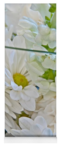 White Floral Bouquet Art Prints Yoga Mat