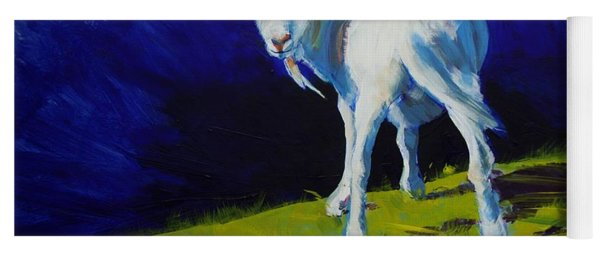 White Goat Painting Yoga Mat