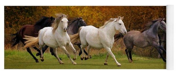 White Horse Vale Lipizzans Yoga Mat