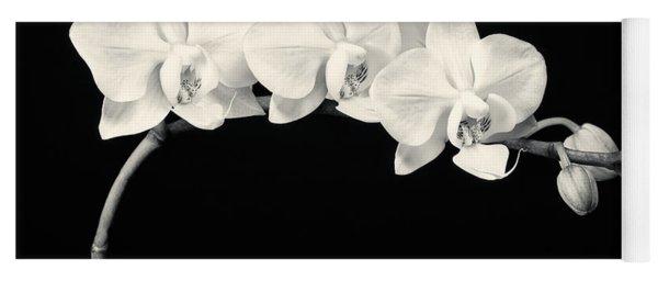 White Orchids Monochrome Yoga Mat