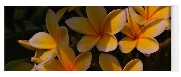 White Plumeria Yoga Mat