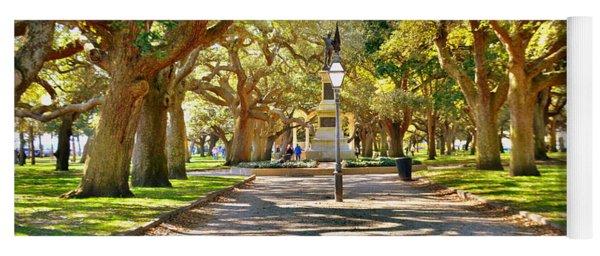 White Point Gardens At Battery Park Charleston Sc Hdr Yoga Mat