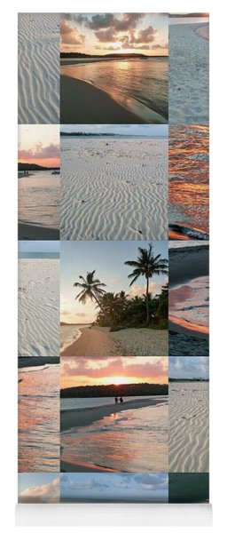 White Sand And Fire Water By Julia Fine Art  Yoga Mat