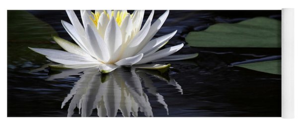 White Water Lily Left Yoga Mat