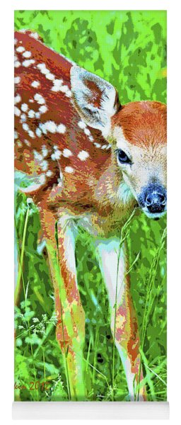 Whitetailed Deer Fawn Digital Image Yoga Mat