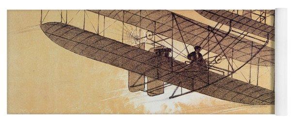 Wilbur Wright In His Flyer Yoga Mat