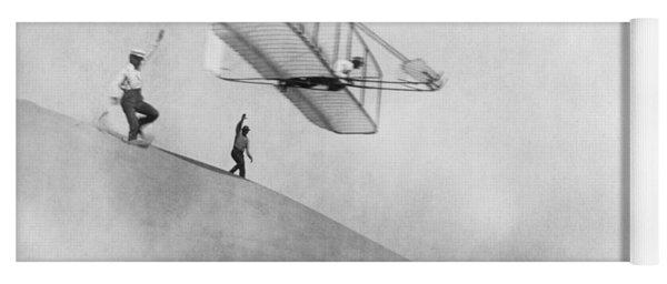 Wilbur Wright Pilots Early Glider 1901 Yoga Mat
