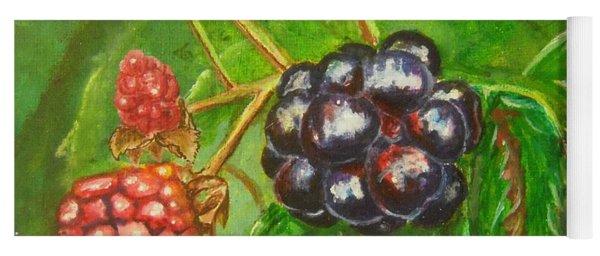 Wild Blackberries Yoga Mat