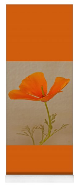 Wild California Poppy No 1 Yoga Mat